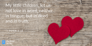 Random Bible verse-1-John-3-18