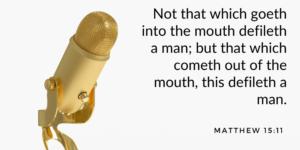 Random Bible verse. Matthew 15-11